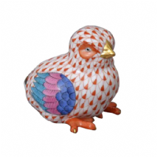 Herend Porcelain Fishnet Figurine of a Baby Chick